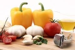 Ingrédients frais de salade Photo stock