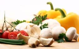 Ingrédients frais de salade Photos stock