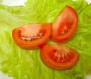 Ingrédients frais pour une salade Image libre de droits