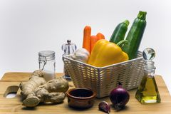 Ingrédients-ingwer salad-1 Image stock