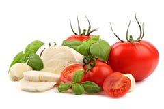 Ingrédients italiens 3 de salade images stock