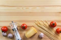 Ingrédients italiens de pâtes Photos libres de droits
