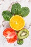 Ingrédients naturels comme potassium de source, vitamine K, minerais et fibre Image libre de droits