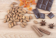 Ingrédients pour des biscuits de Noël Photographie stock libre de droits