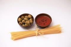 Ingrédients pour des spaghetti Image stock