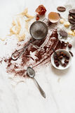 Ingrédients pour faire un gâteau Photo libre de droits