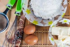 Ingrédients pour la cuisson Photos stock