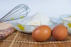Ingrédients pour la cuisson Photo stock