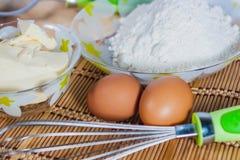 Ingrédients pour la cuisson Photographie stock libre de droits