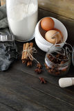 Ingrédients pour la cuisson de Noël photo libre de droits