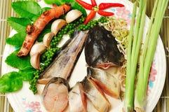 Ingrédients pour la nourriture thaïe Photographie stock