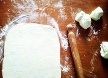 Ingrédients pour la pizza Image stock
