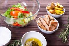 Ingrédients pour la salade Images libres de droits