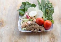 Ingrédients pour la soupe à canard Photographie stock