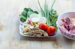 Ingrédients pour la soupe à canard Photo stock