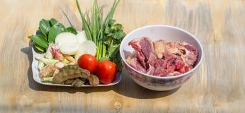 Ingrédients pour la soupe à canard Images stock