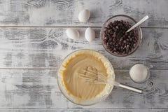 Ingrédients pour le gâteau de cuisson photo libre de droits