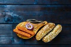 Ingrédients pour les hot-dogs photos libres de droits