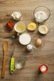 Ingrédients pour les petits pains salés Photos libres de droits