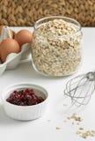 Ingrédients pour un petit déjeuner sain Photo libre de droits