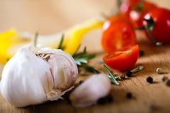 Ingrédients pour un repas sain Image libre de droits