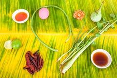 Ingrédients thaïlandais dans la fin  Photo stock