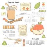 Ingrédients tirés par la main mignons de cocktail de griffonnage Images stock