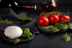 Ingrédients traditionnels de culinaire italien Image libre de droits