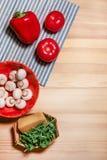Ingrédients végétaux de tarte Image stock