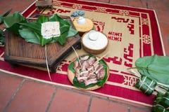 Ingradients pour inciter Chung à durcir, la nourriture la plus importante de la nouvelle année lunaire vietnamienne Tet Photographie stock