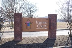 Ingram Court Senior Apartment Homes fotografia stock libera da diritti