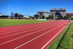 Ingram Field Athletic Field Track på den sjö- akademin Royaltyfria Foton