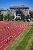 Ingram Field et Macdonough Hall à l'Académie Navale Images libres de droits