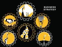Ingranaggi con le attività economiche royalty illustrazione gratis