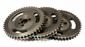 Ingranaggi cronometranti automobilistici antichi del ghisa Fotografia Stock