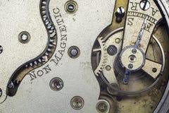 Ingranaggi d'annata dell'orologio da tasca Fotografie Stock Libere da Diritti