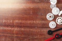 Ingranaggi dell'orologio Fotografie Stock Libere da Diritti
