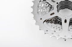 Ingranaggi della cassetta della bici immagine stock