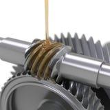 Ingranaggi di lubrificazione Fotografia Stock Libera da Diritti