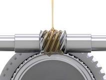 Ingranaggi di lubrificazione Immagine Stock