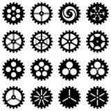 Ingranaggi di vettore delle siluette Fotografia Stock