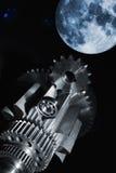Ingranaggi e cuscinetti a sfera aerospaziali Fotografie Stock