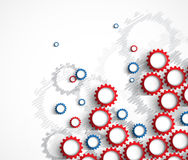 Ingranaggi a macchina di tecnologia retro bacground del meccanismo della ruota dentata Fotografie Stock
