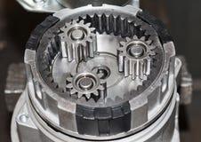 Ingranaggi reali dell'acciaio inossidabile Fotografie Stock Libere da Diritti