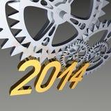 Ingranaggi 2014 su gray Immagine Stock