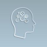 Ingranaggi sul cervello, illustrazione di vettore illustrazione vettoriale
