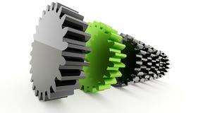 Ingranaggi un verde Immagini Stock Libere da Diritti