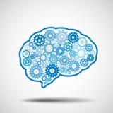 Ingranaggio del cervello Concetto di intelligenza artificiale di AI Fotografie Stock Libere da Diritti