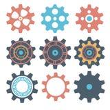 Ingranaggio della macchina della raccolta dell'ingranaggio, ruota dentata della ruota, insieme delle ruote di ingranaggio, raccol Fotografie Stock
