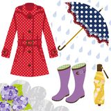 Ingranaggio della pioggia per le donne royalty illustrazione gratis